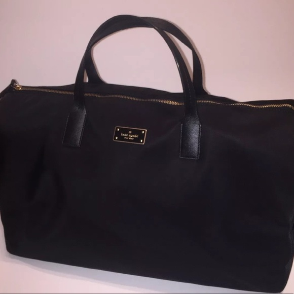 Kate Spade Handbags - Kate Spade Large Black Duffel bag Weekend Traveler